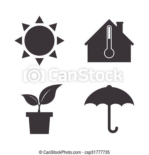 Weather icons. - csp31777735