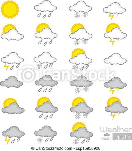 weather icons  - csp15950920