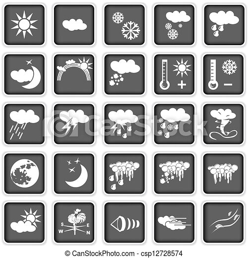 weather icons - csp12728574