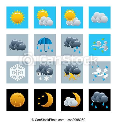 Weather icons set - csp3998059