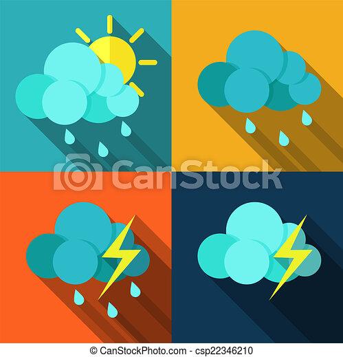 Weather icons set - vector - csp22346210