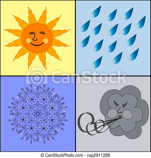 weather icons. - csp2911288