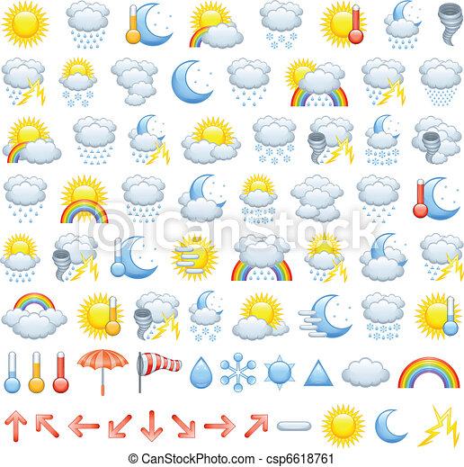 Weather icons - csp6618761