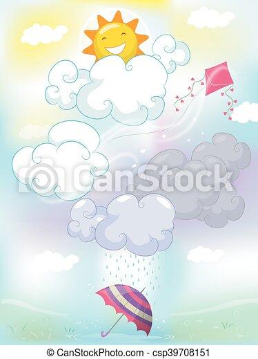 Weather Types - csp39708151