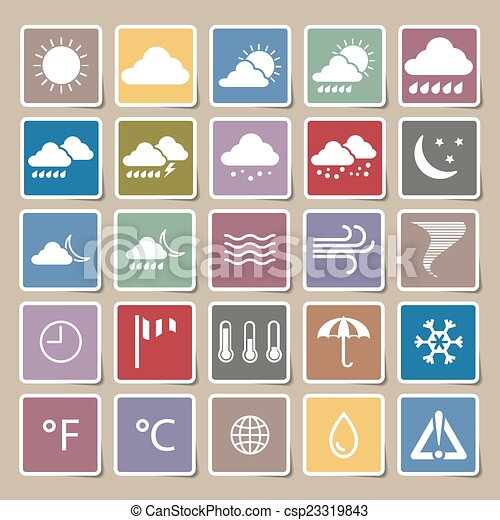 Set Of Paper Stickers On White Background Sun Clouds Rain Royalty Free  Cliparts, Vectors, And Stock Illustration. Image 67505216.