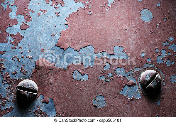 weathered, металл, задний план, текстура - csp6505181