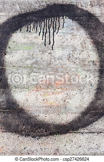 Weathered concrete wall texture - csp27426624