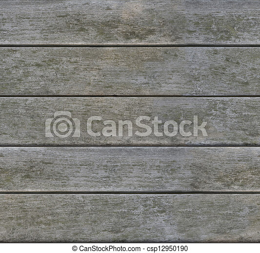 Weathered gray horizontal wood texture seamlessly tileable - csp12950190