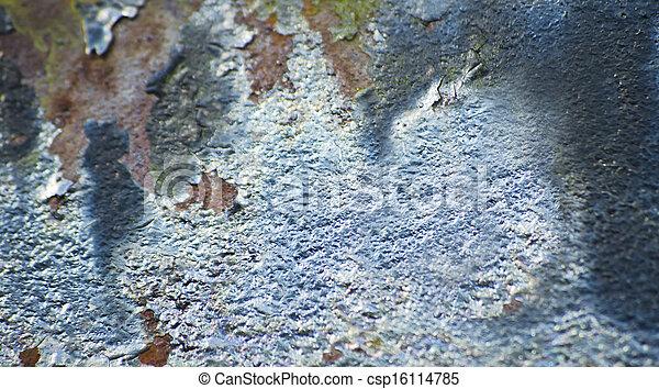 Weathered metallic paint texture