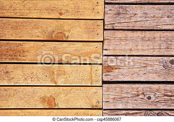 Weathered Outdoor Patio Wooden Flooring Texture