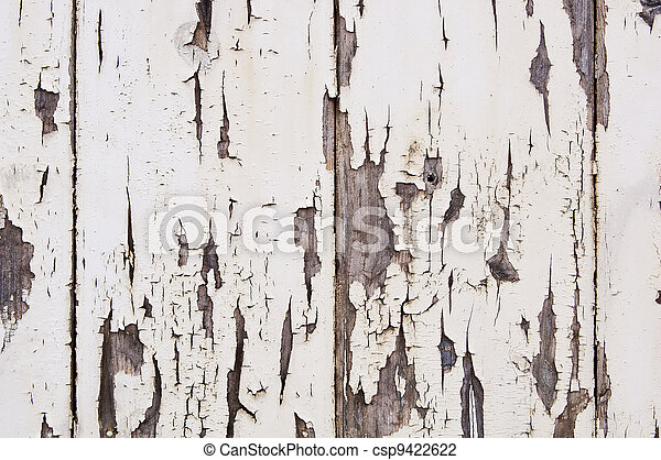 Weathered Paint on Wood - csp9422622