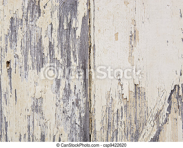 Weathered Paint on Wood - csp9422620