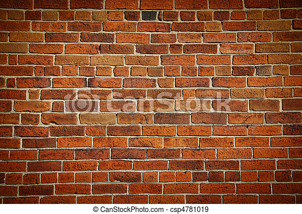 Weathered stained old brick wall - csp4781019