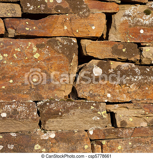 Weathered stone wall background - csp5778661