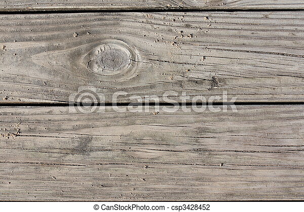 Weathered  Wooden Dock Boards Background - csp3428452