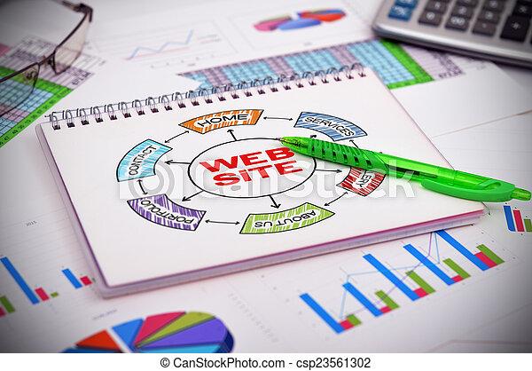 web, схема, сайт - csp23561302