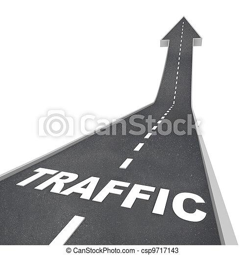 web, транспорт, вверх, трафик, стрела, поднимающийся, дорога - csp9717143