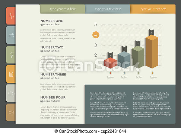 web ページ, サンプル, 印刷, layout., ∥あるいは∥ - csp22431844