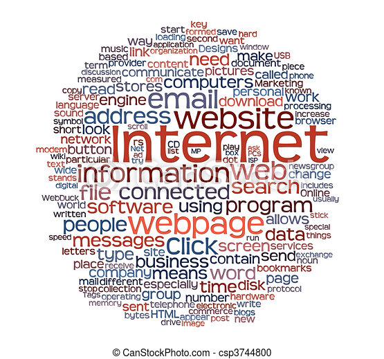 web ページ, タグ, 雲, インターネット - csp3744800