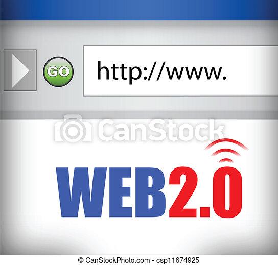 web, 2.0, internet browser - csp11674925