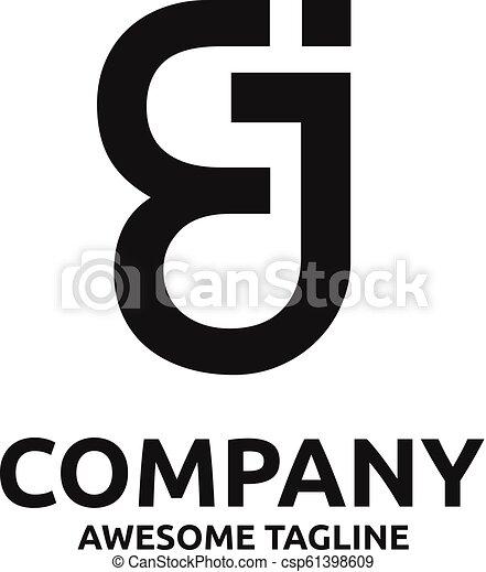 web, abstract, ej, logo, creatief, brief - csp61398609