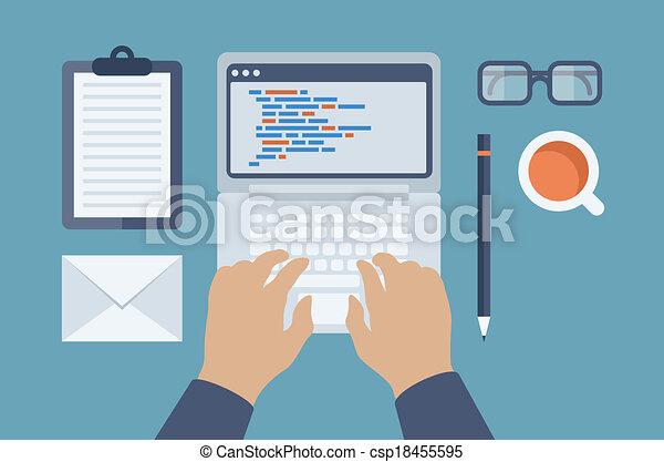 Web and HTML programming flat illustration - csp18455595