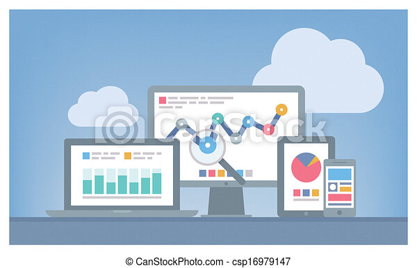 Web and SEO analytics concept - csp16979147