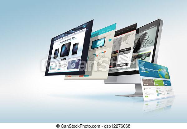 web, begriff, design - csp12276068