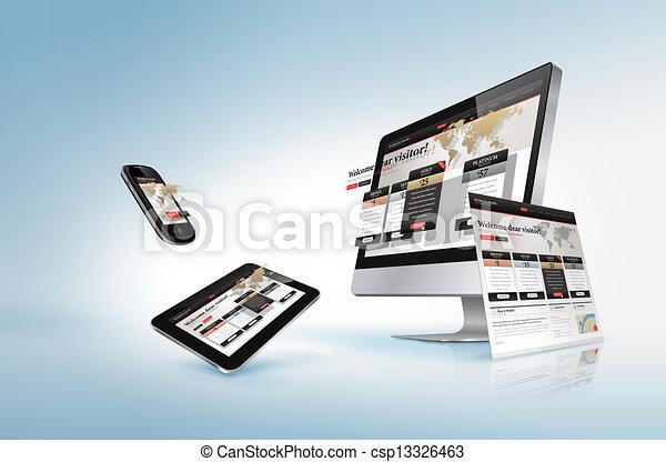 Webdesign Konzept - csp13326463