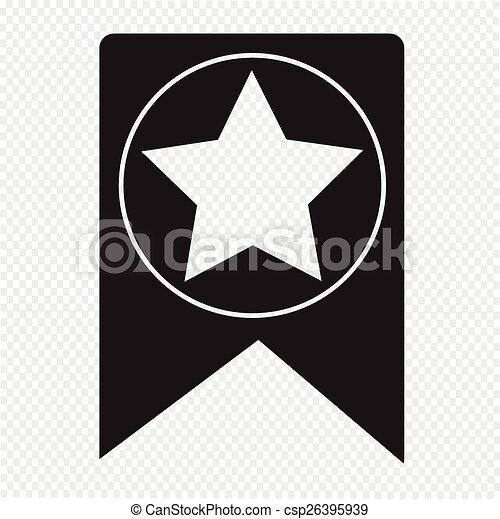 Web Bookmark Ribbon Icon - csp26395939