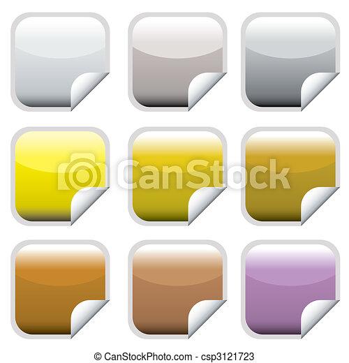 web, bottone, quadrato - csp3121723