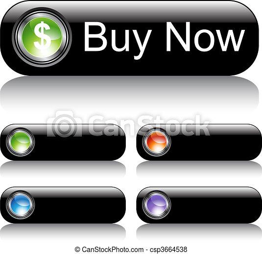 web, bottone, set, nero - csp3664538