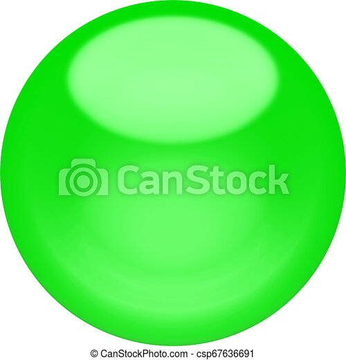 Web button 3d - green glossy sphere, isolated - csp67636691