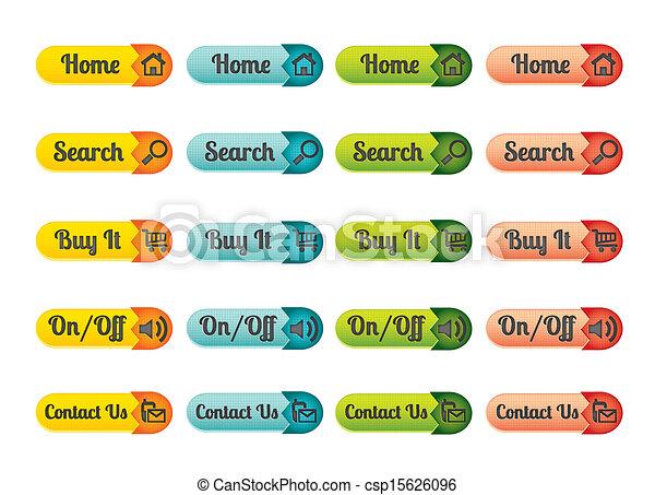 Web button design - csp15626096