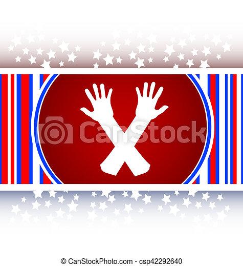 web button hand icon on white - csp42292640