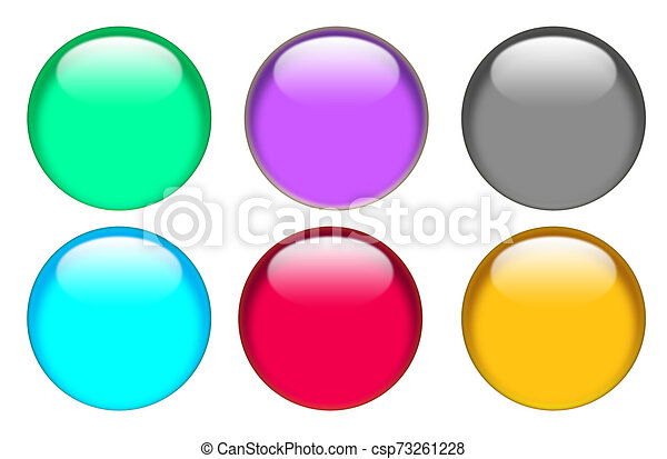 web button icon on white background. flat style. button for your web site design, logo, app, UI. glassy button set sign. - csp73261228