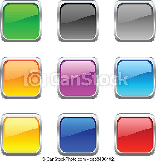 web, buttons. - csp8430492