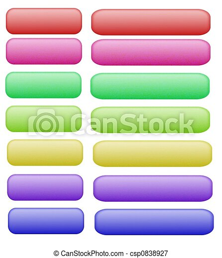 Web buttons on white - csp0838927