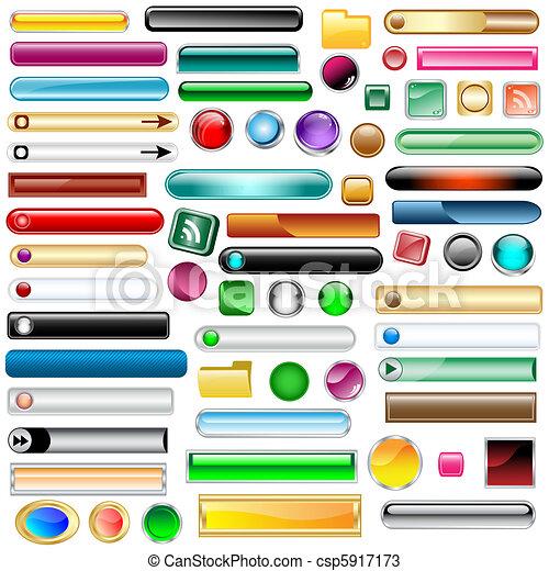 Web buttons set of 63 - csp5917173