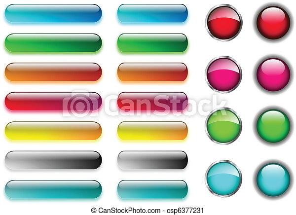 Web buttons set - csp6377231