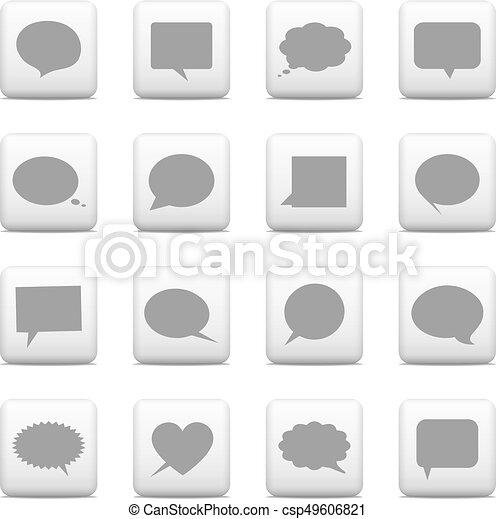 Web buttons,speech bubbles icons - csp49606821