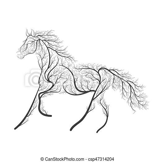 Web cavallo concetto purposes inviti uso saltare for Disegno cavallo stilizzato