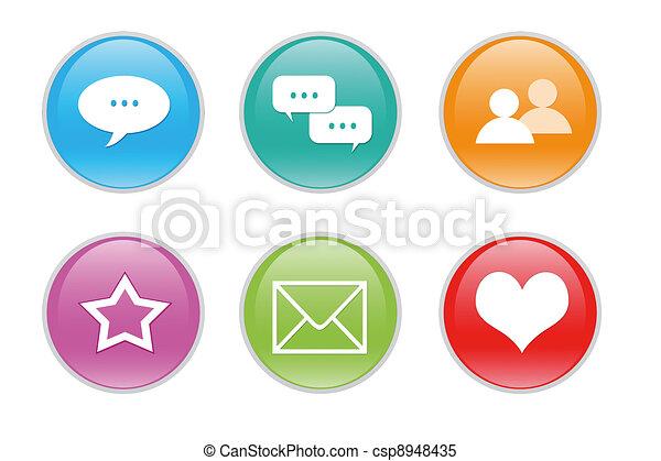 web, colorito, icone - csp8948435