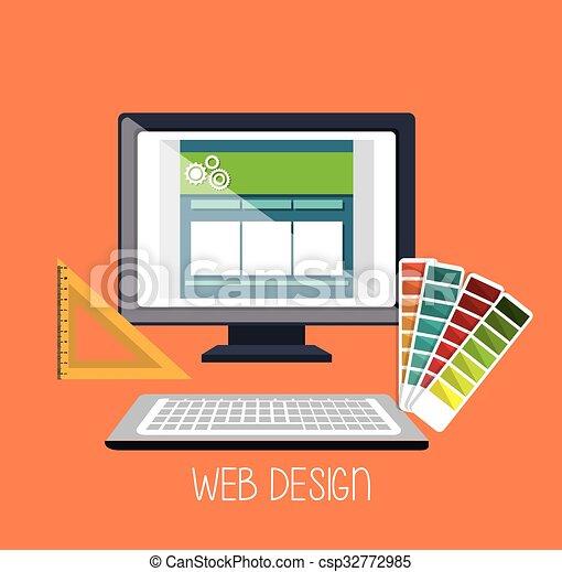 Web design development  - csp32772985