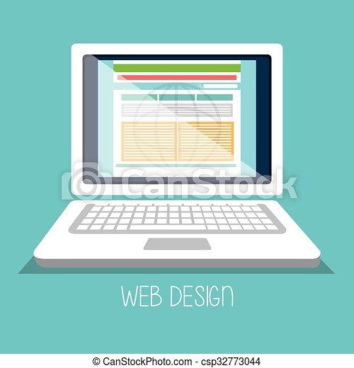 Web design development  - csp32773044
