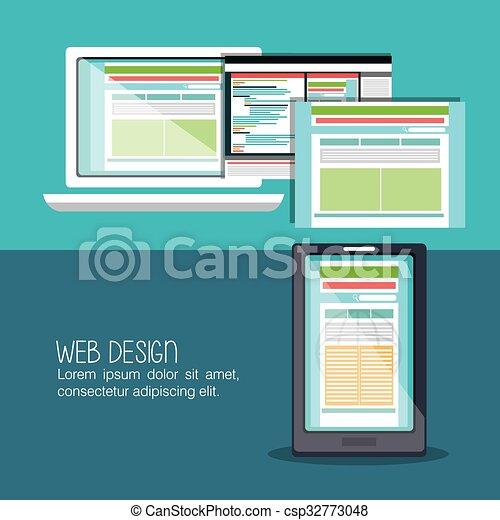Web design development  - csp32773048