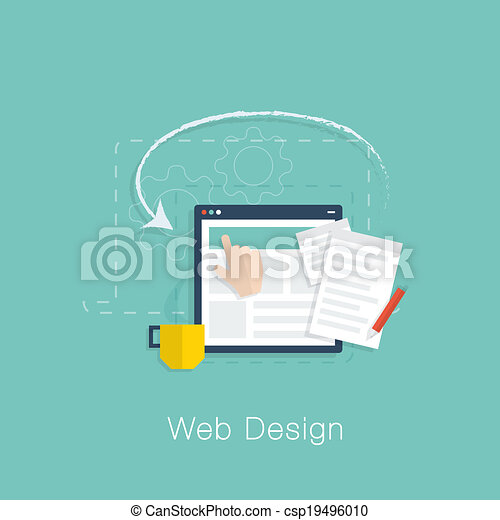 Web design development project vect - csp19496010