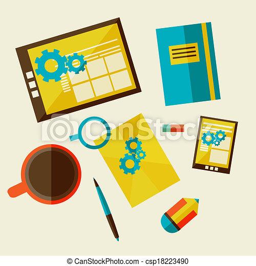 web design development workflow - csp18223490