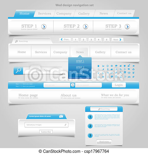 Web Design Element Frame Template - csp17967764