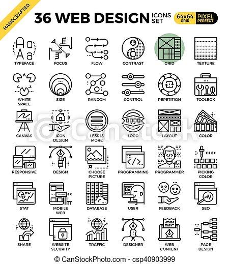 Web design icons - csp40903999
